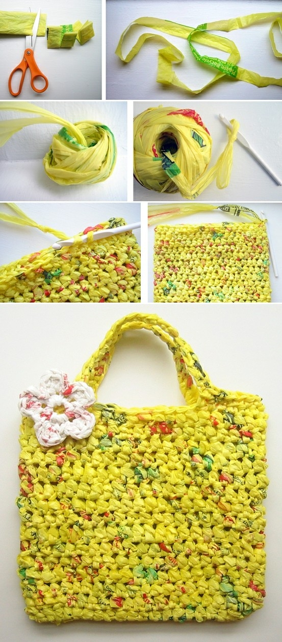 DIY Plastic Tote Bag Tutorial