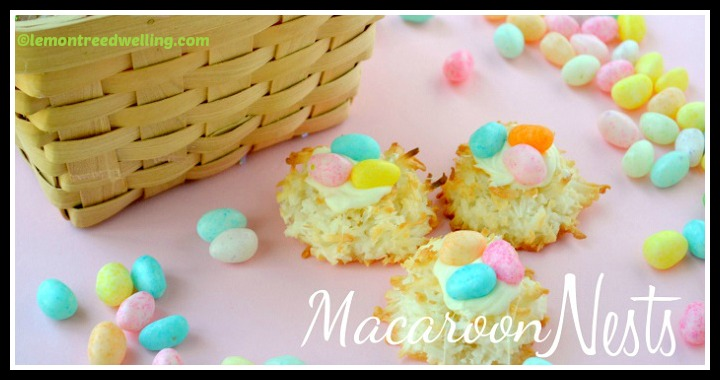 DIY Easter Macaroon Nests Tutorial