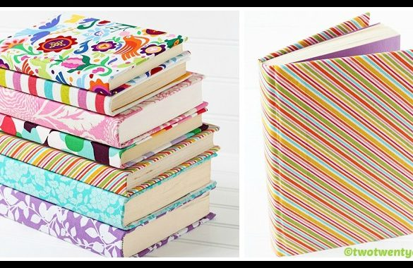 DIY Fabric Covered Books Tutorial