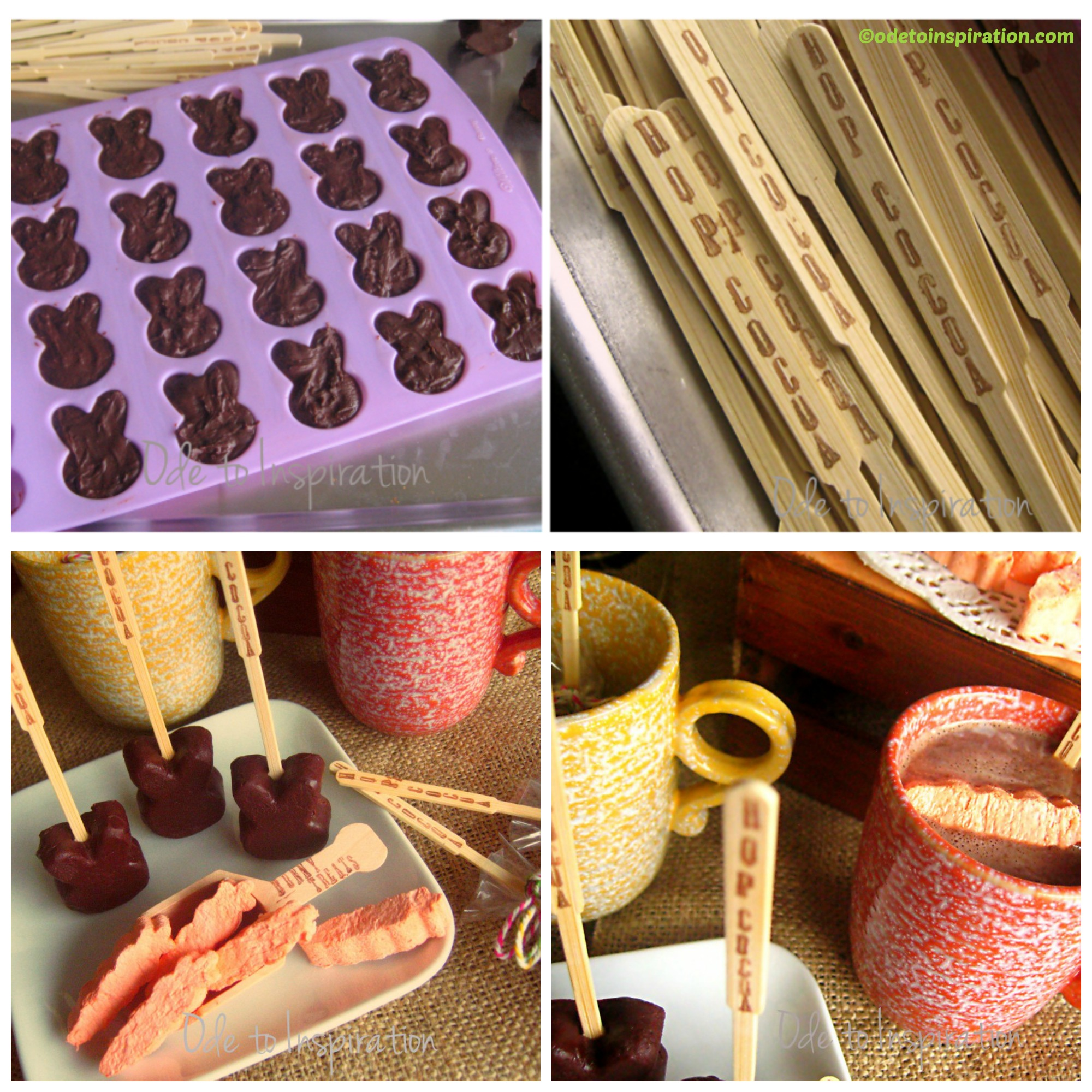 How to make Easter Bunnies Hot Chocolate Bars