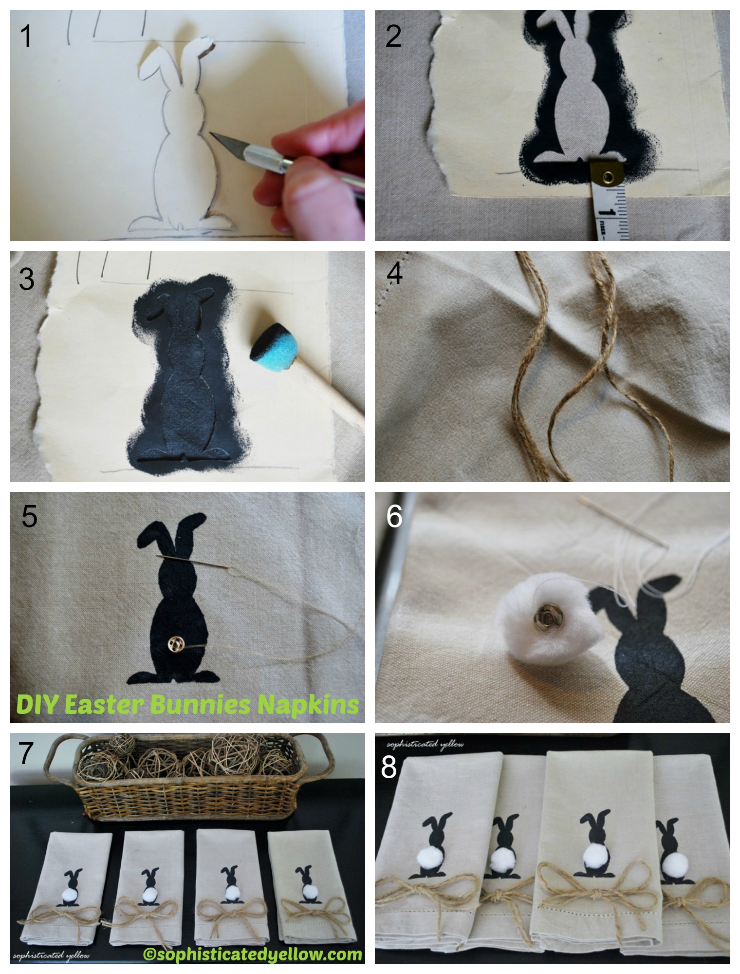 How to make Easter Bunnies Napkins