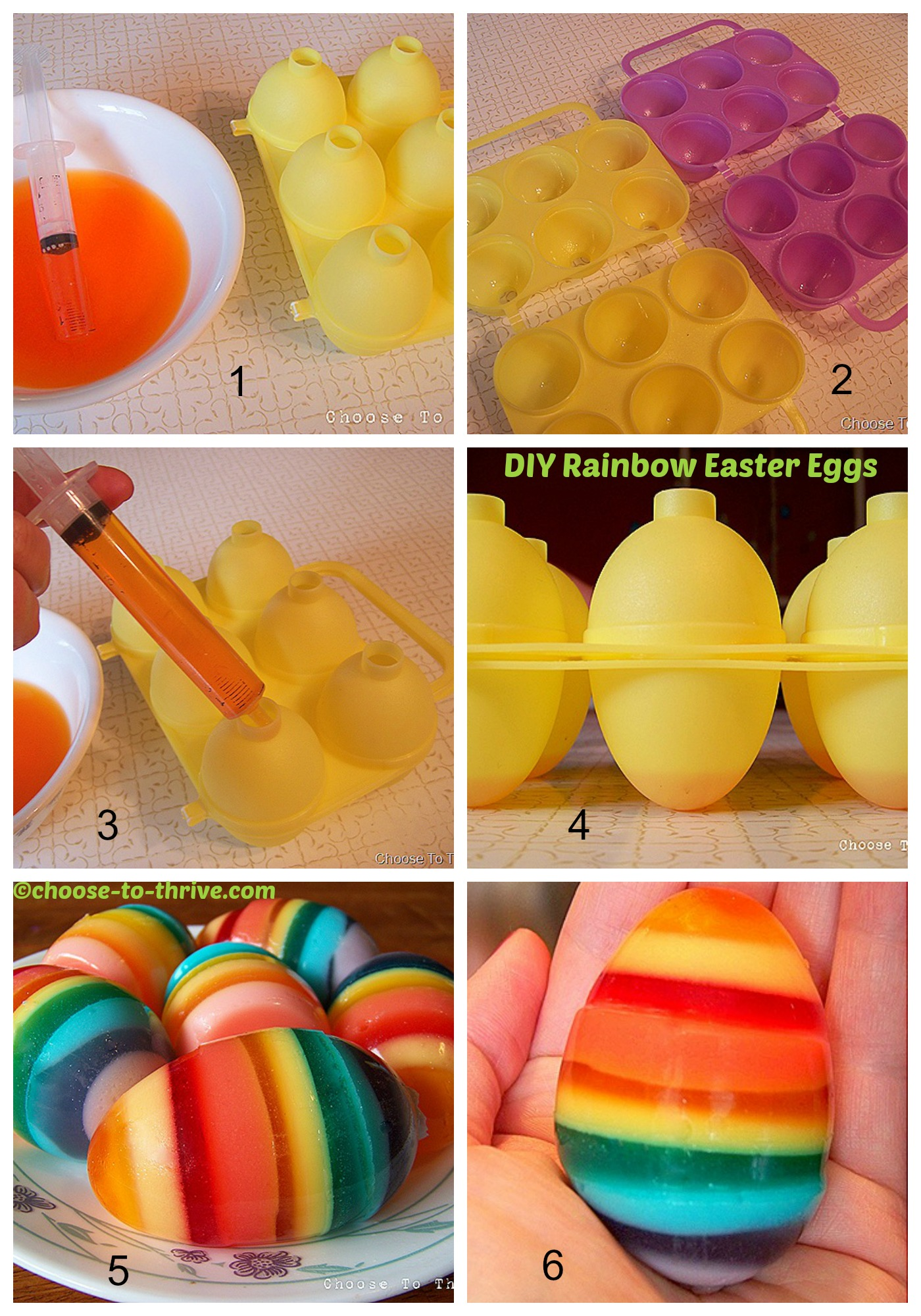 How to make Rainbow Easter Eggs
