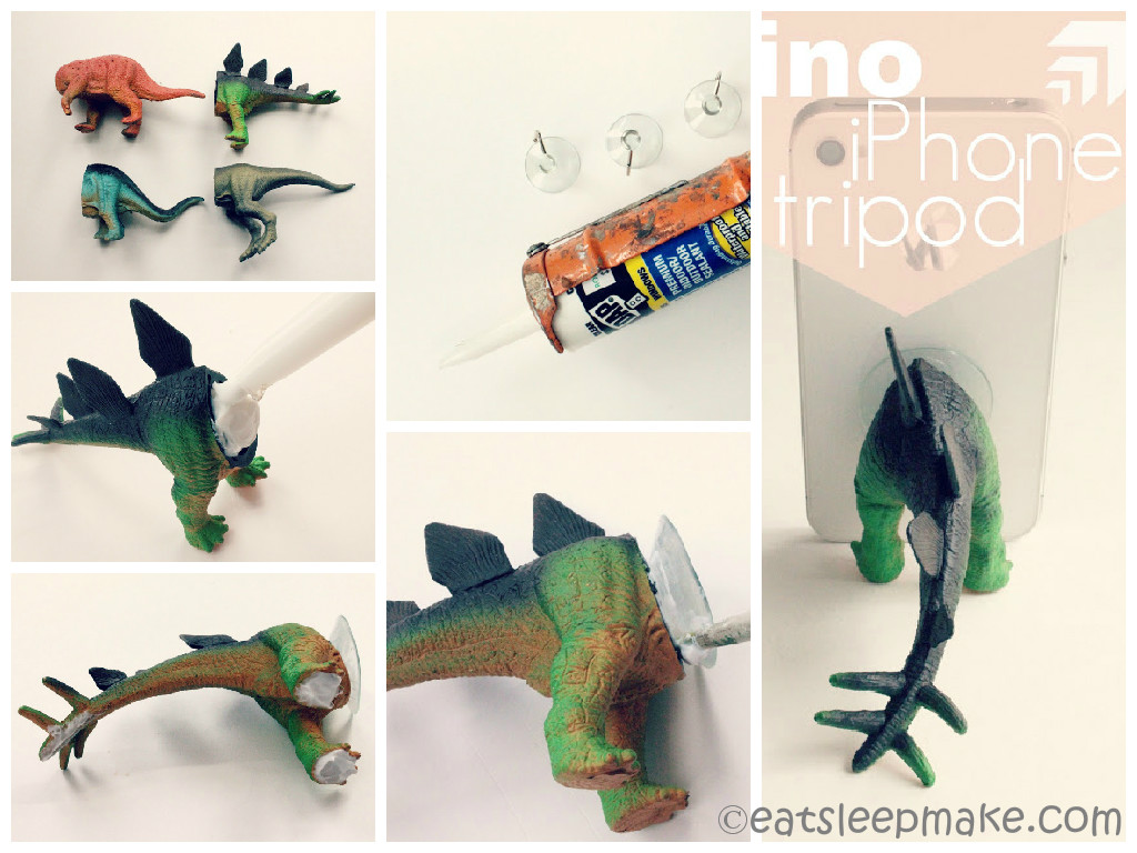 DIY Dino Iphone Tripod