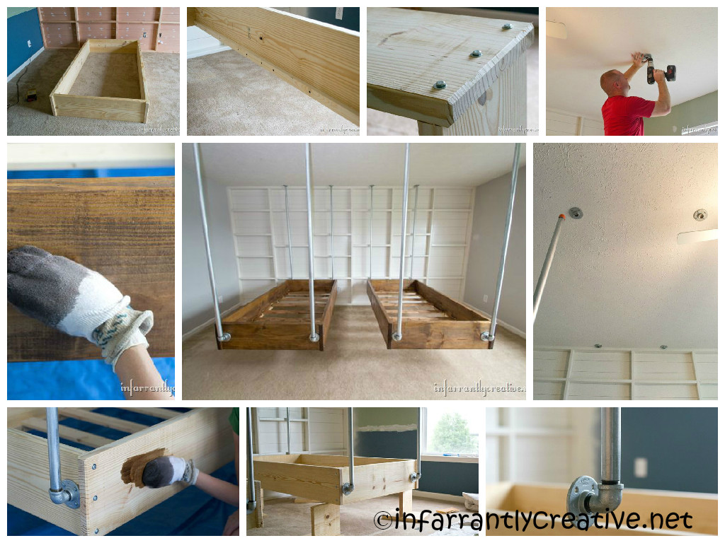 DIY Pipe Hanging Beds Tutorial