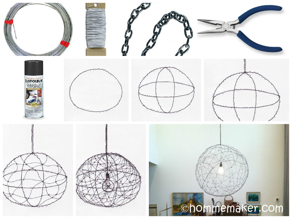DIY Wire Chandelier Tutorial