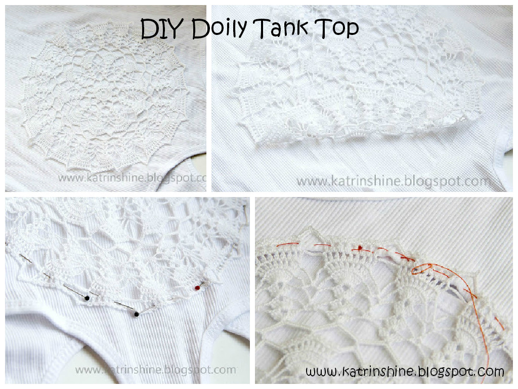 DIY Doily Tank Top Tutorial