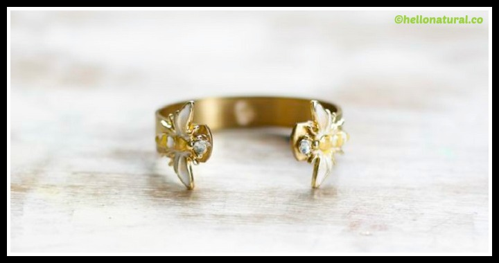 DIY Enamel Bee Cuff Tutorial