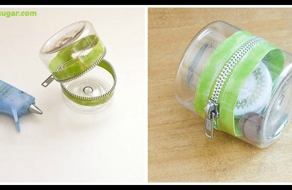 DIY Plastic Bottle Zipper Container Tutorial