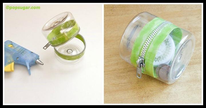 DIY Plastic Bottle Zipper Container Tutorial