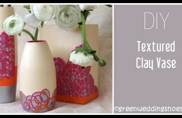 DIY Textured Clay Vase Tutorial
