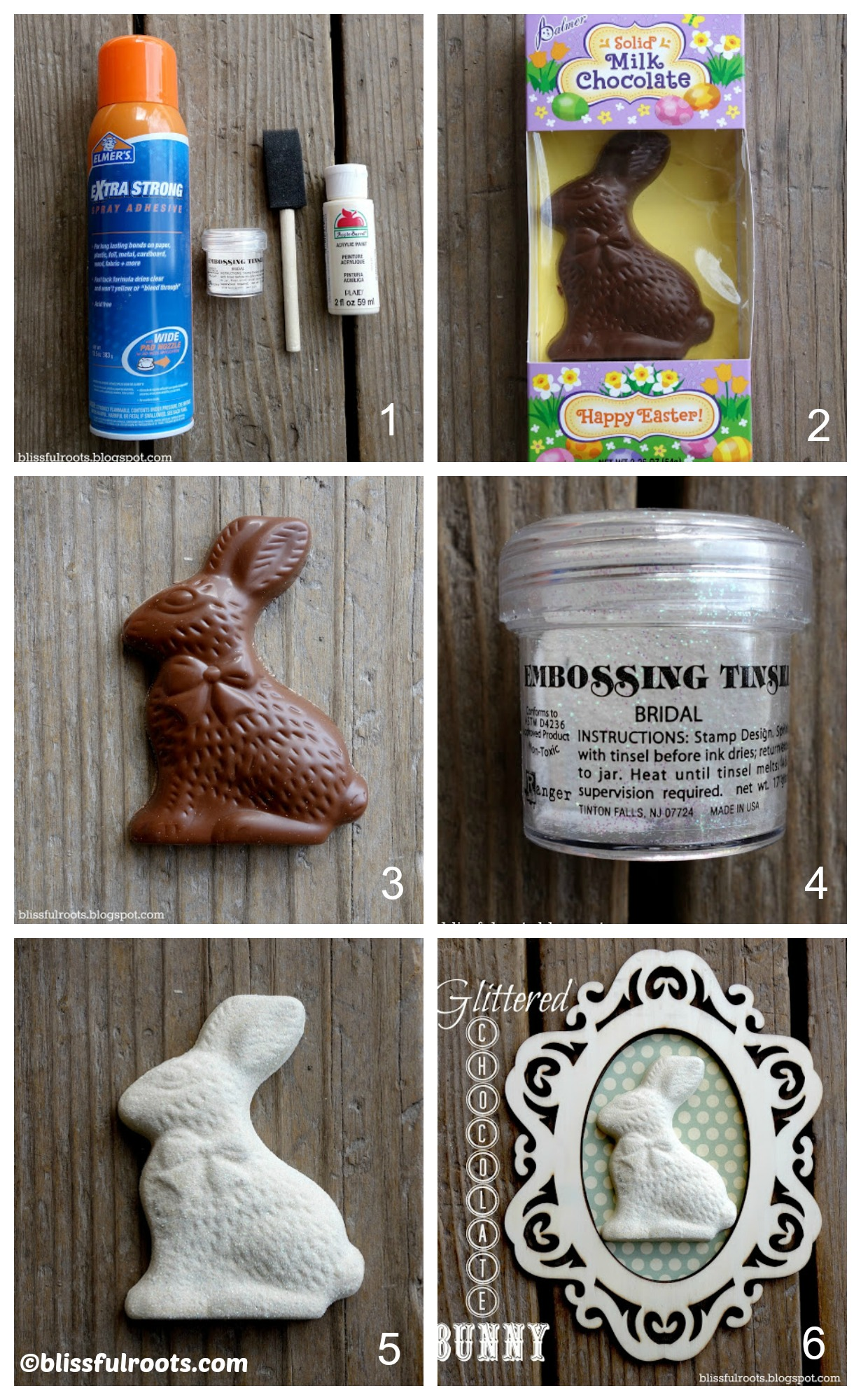 How to make Glittered Chocolate Bunnies