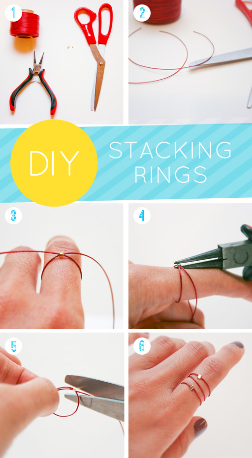How to make Silk Stacking Rings