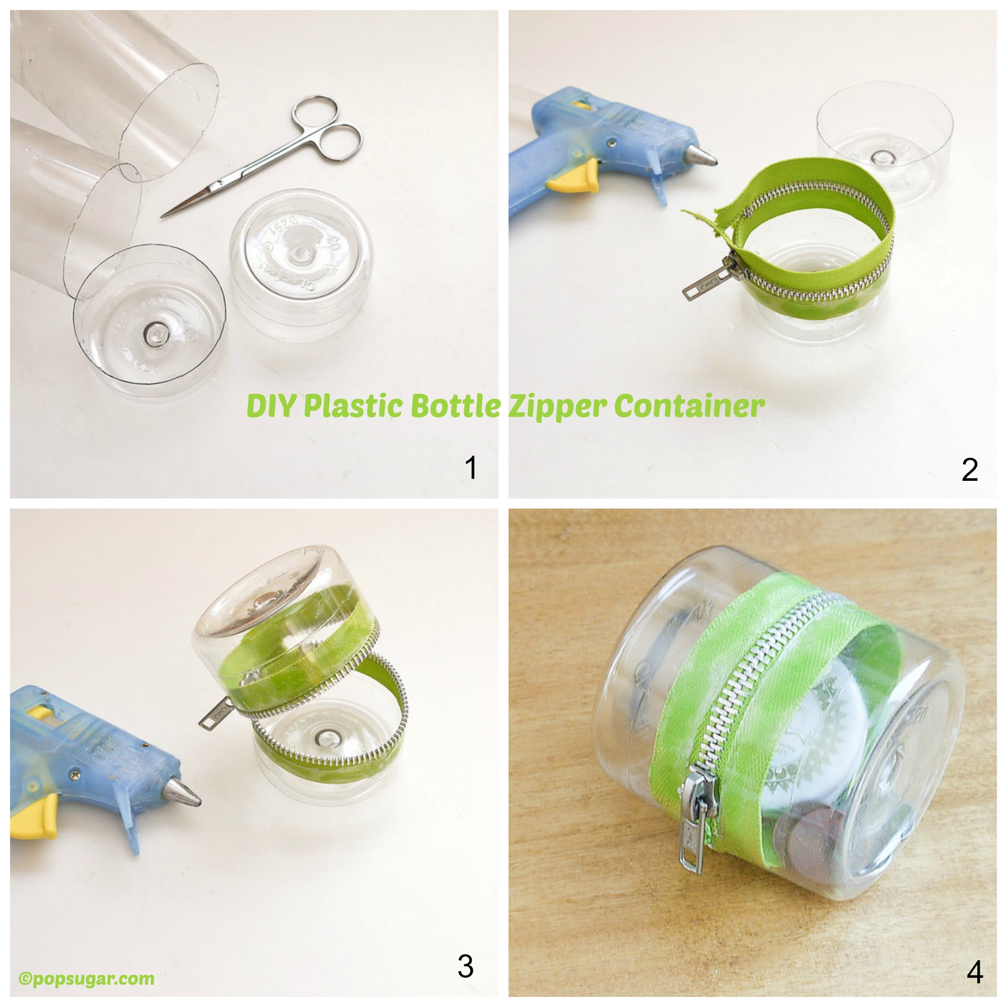 How to make a Plastic Bottle Zipper Container