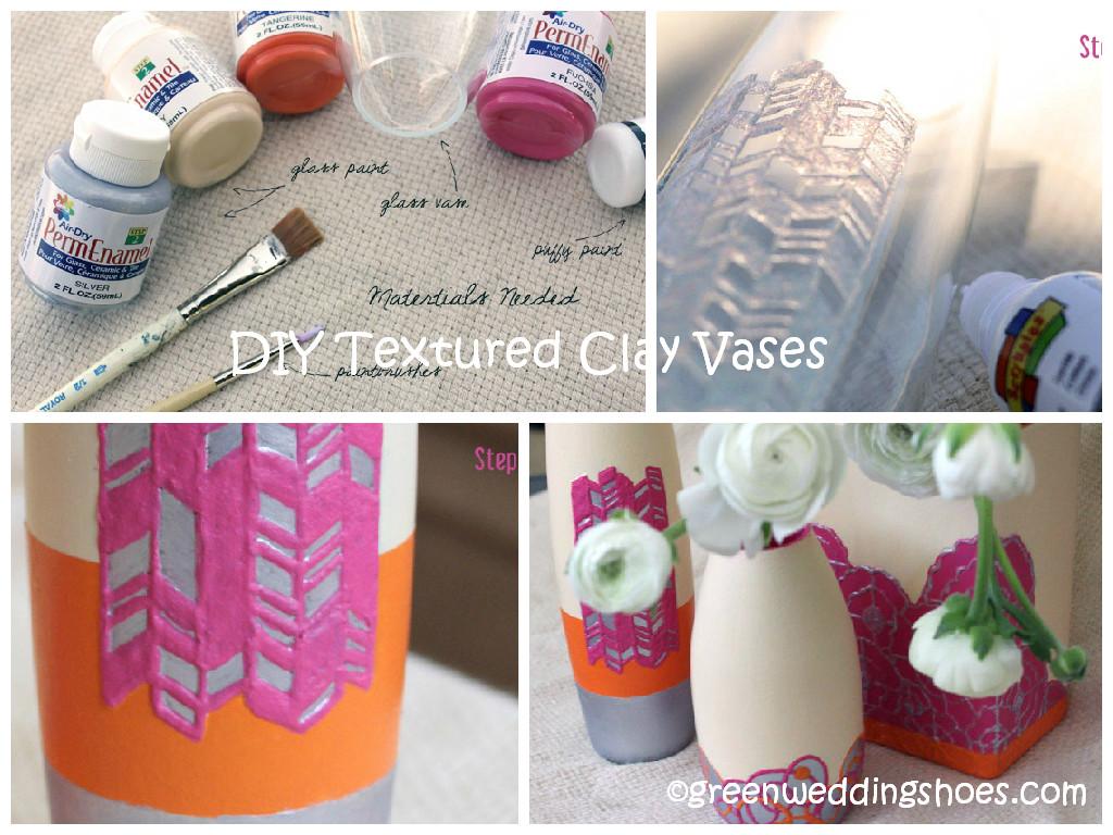 DIY Textured Clay Vase Tutorial