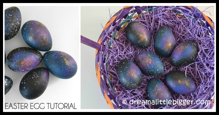 DIY Galaxy Easter Eggs Tutorial