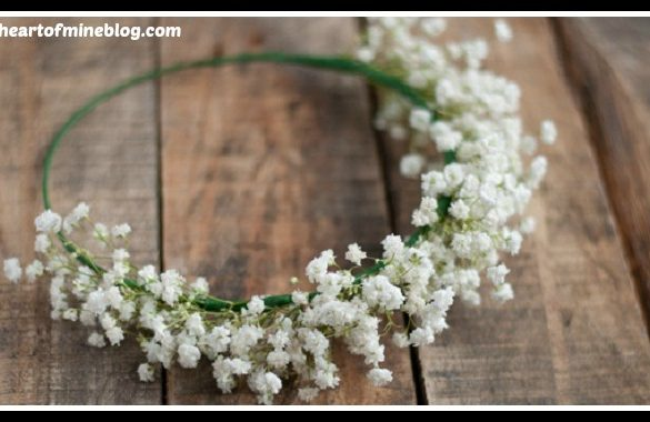DIY Baby Breath Crown Tutorial