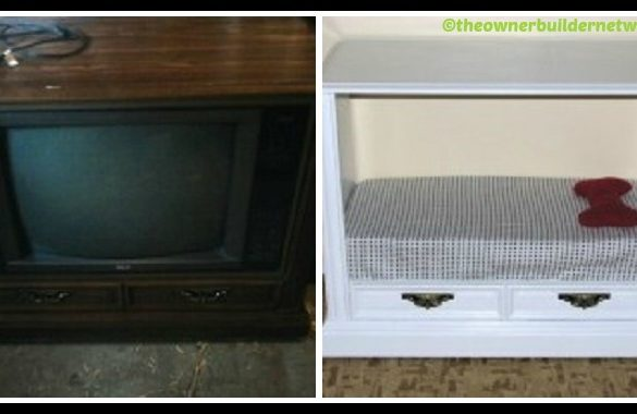 DIY Dog Bed from Old TV Tutorial