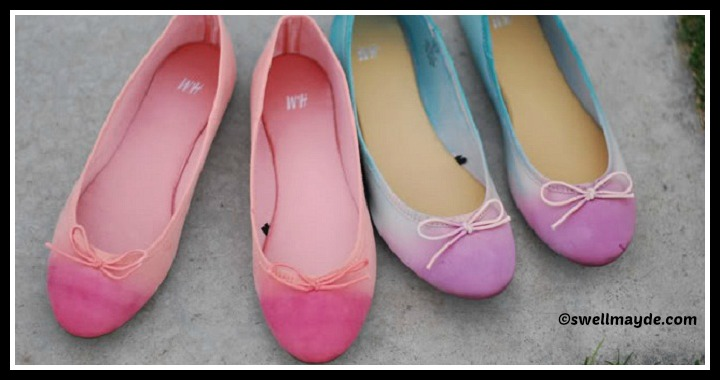 DIY Painted Ballet Flats Tutorial