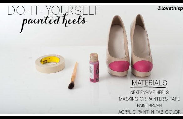 DIY Painted Heels Tutorial