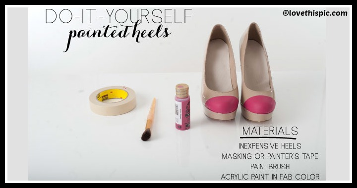 DIY Painted Heels Tutorial