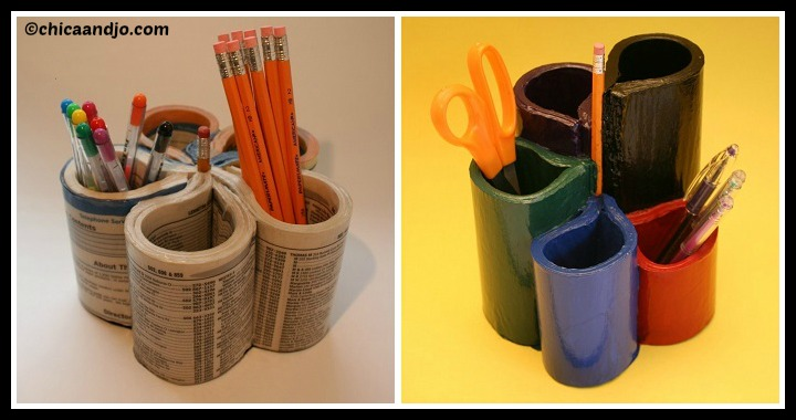 DIY Phone Book into Pen Organizer Tutorial