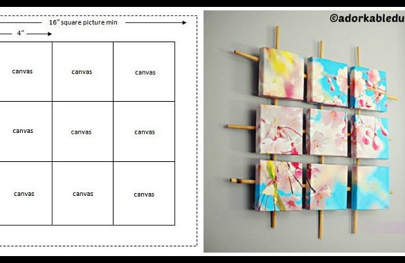 DIY Sectioned Canvas Wall Art Tutorial