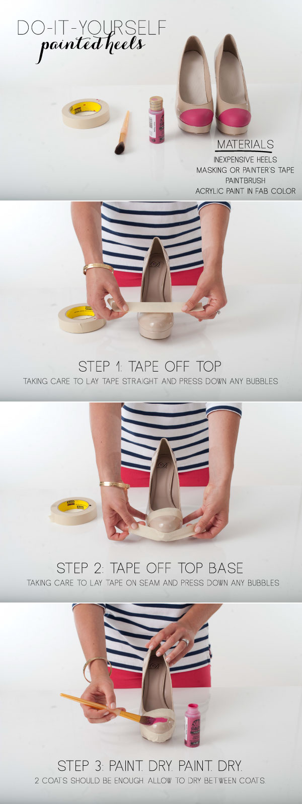How to make Painted Heels