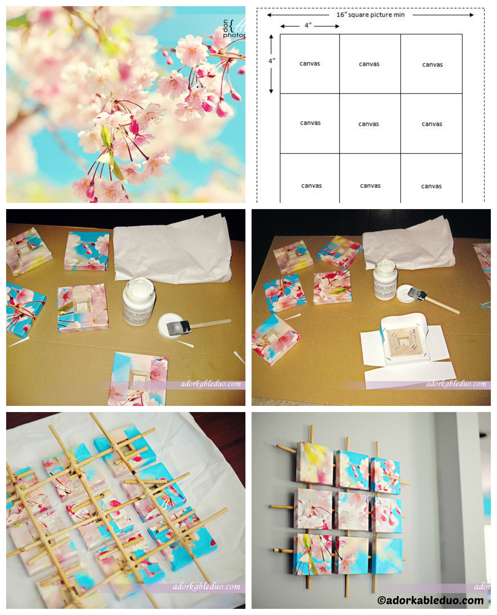 How to make Sectioned Canvas Wall Art