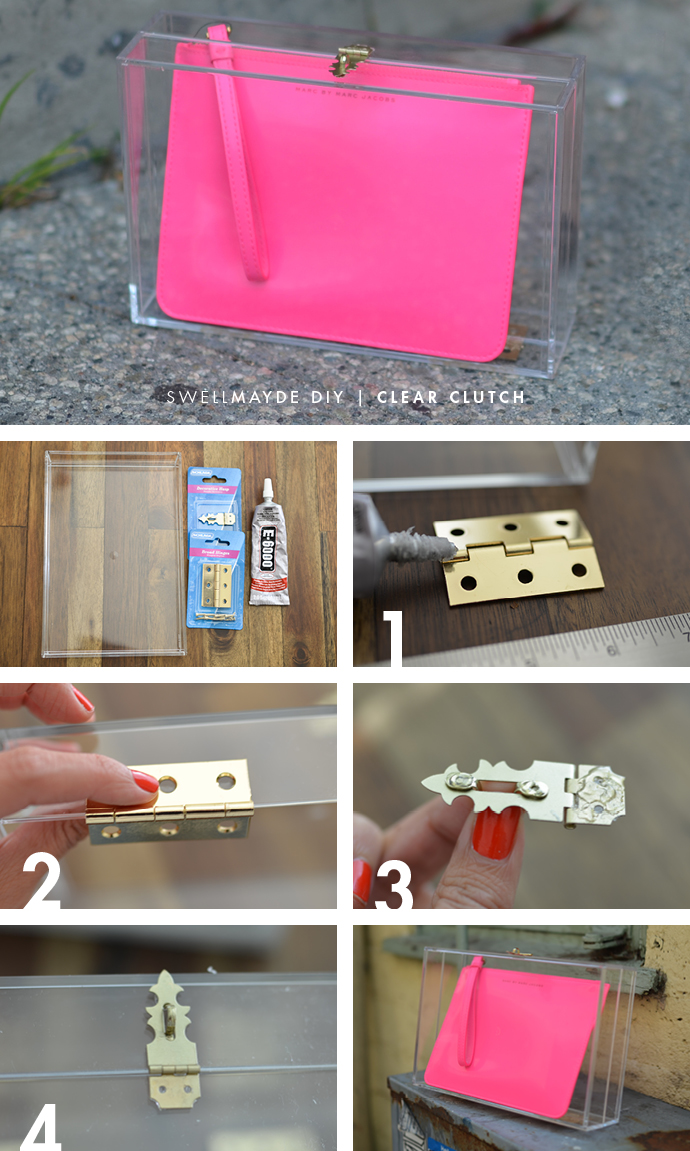 How to make a Box Clear Clutch
