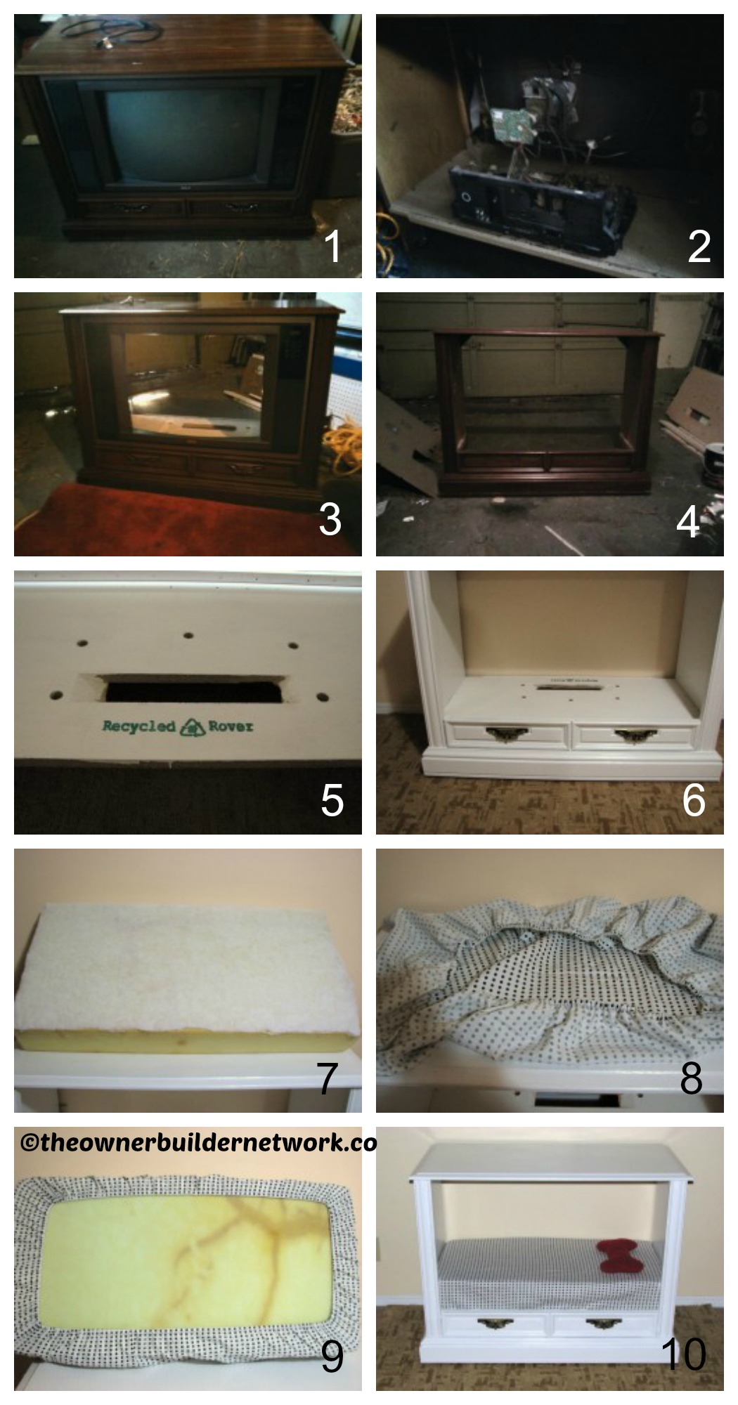 How to make a Dog Bed from Old TV