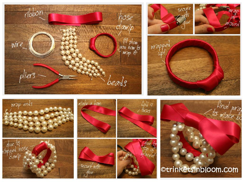 How to make a Beaded Bow Bracelet