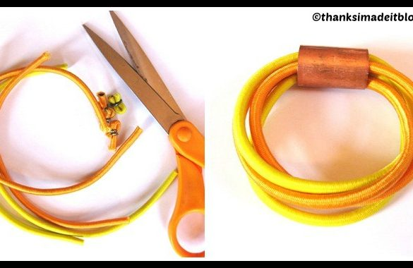 DIY Bungee Cord Bracelet Tutorial
