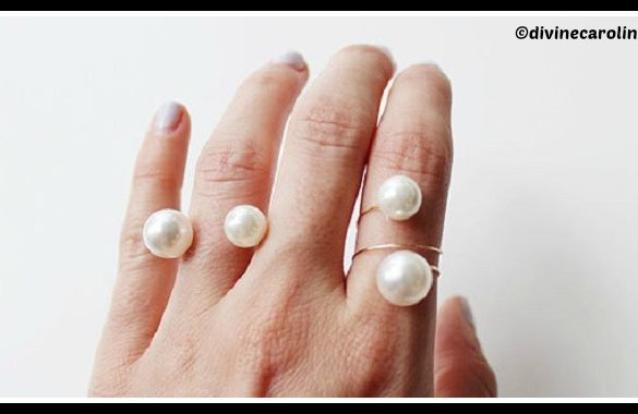 DIY Double Pearl Ring Tutorial
