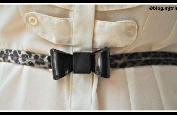 DIY Leopard Print Bow Belt Tutorial