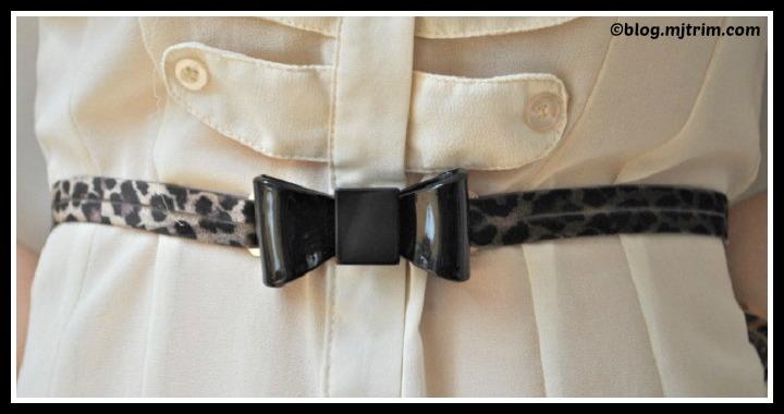 DIY Leopard Print Bow Belt Tutorial