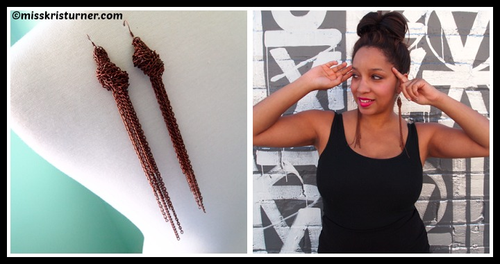 DIY Tassel Knot Chain Earrings Tutorial