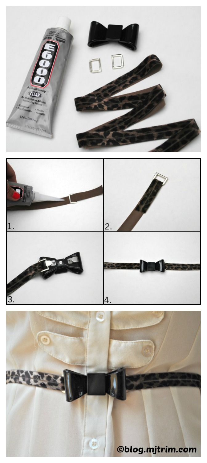 How to make a Leopard Print Bow Belt