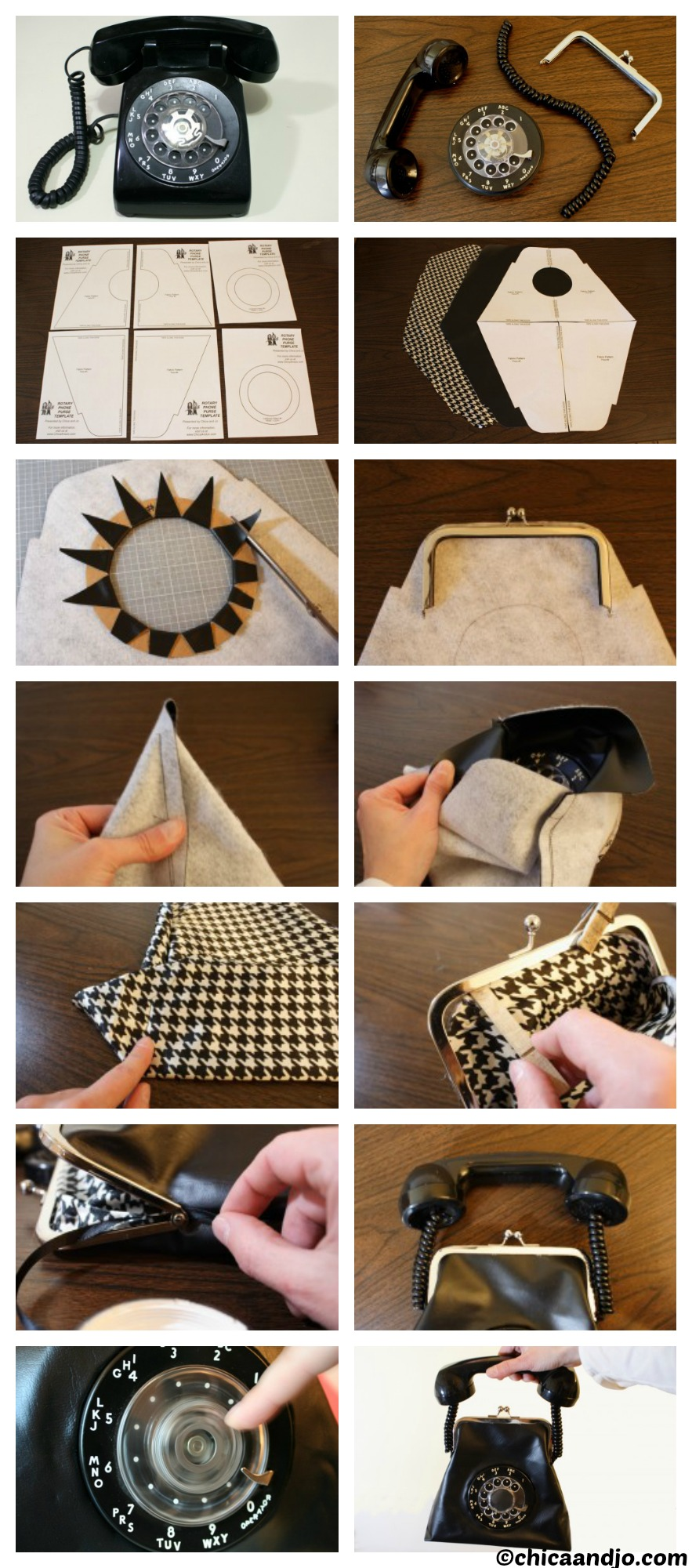 How to make a Retro Phone Bag