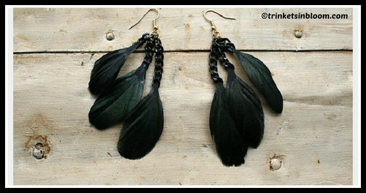 DIY Feather Earrings Tutorial