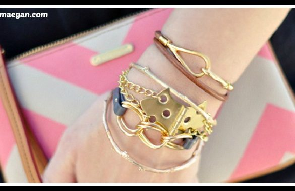 DIY Hinge Bracelet With Gold Chains Tutorial