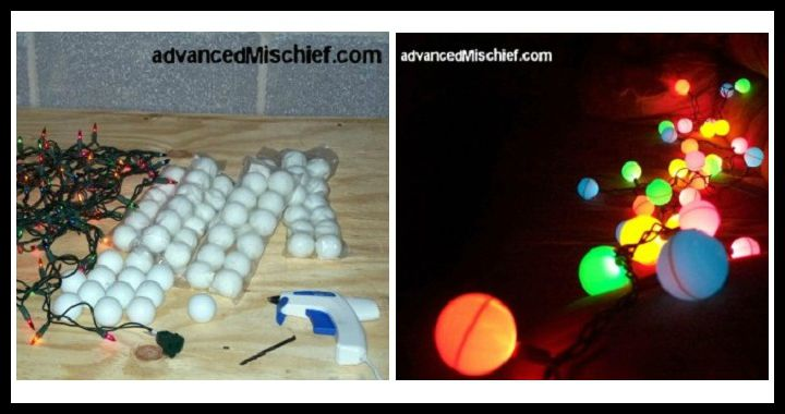 DIY Ping Pong Ball Lights Tutorial