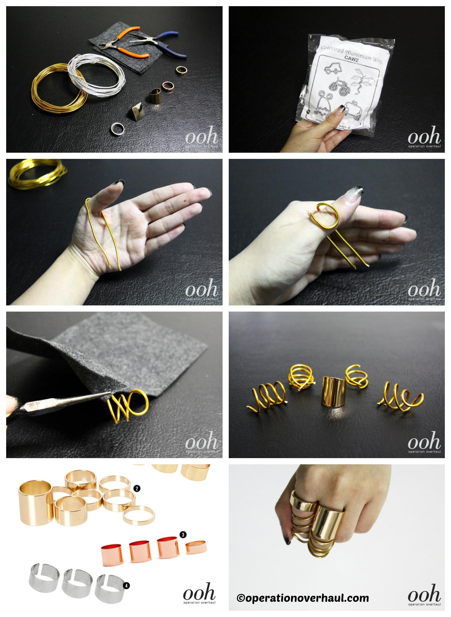 How to make Balenciaga Inspired Rings