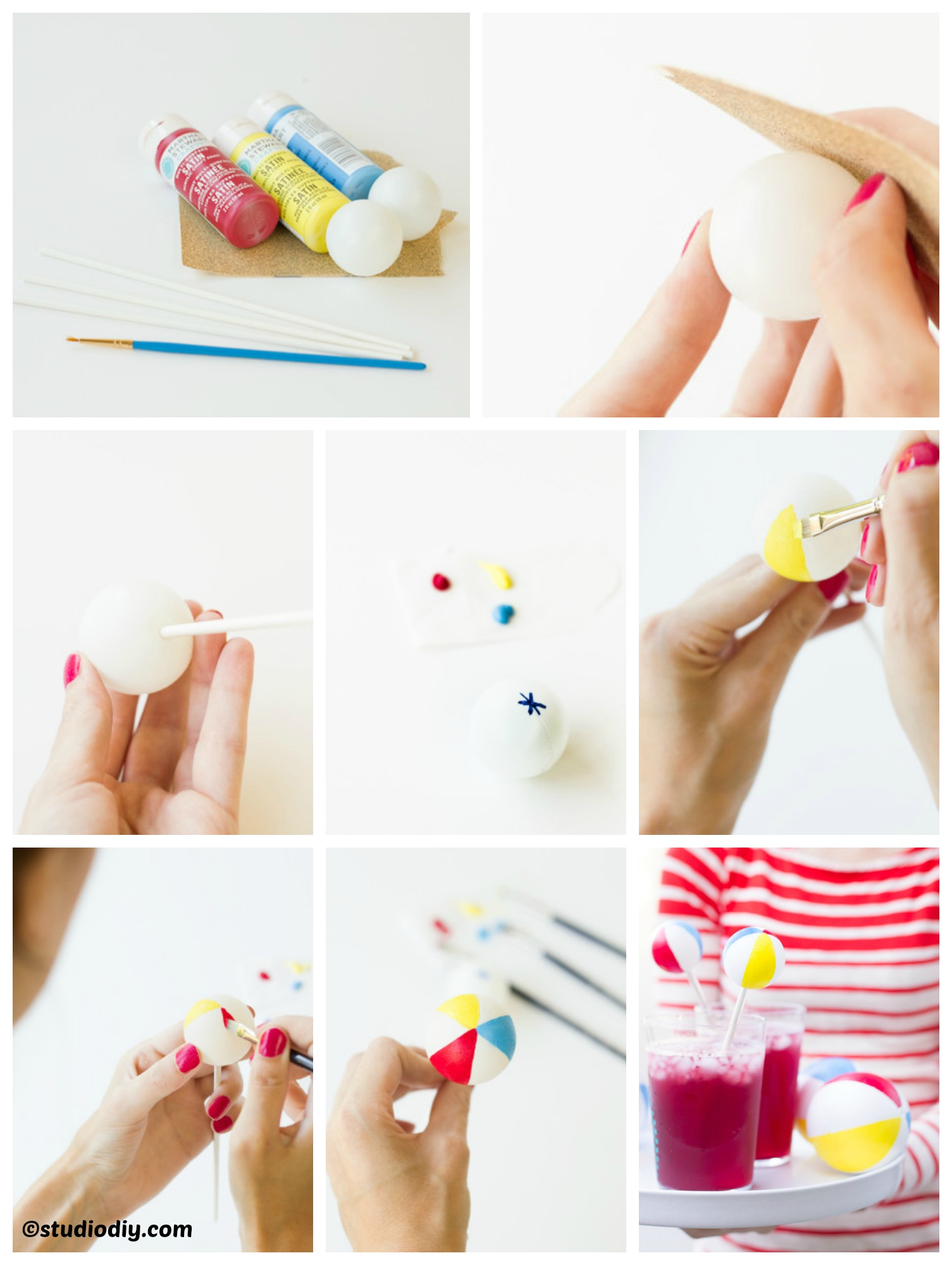 How to make Beach Balls Drink Stirrers