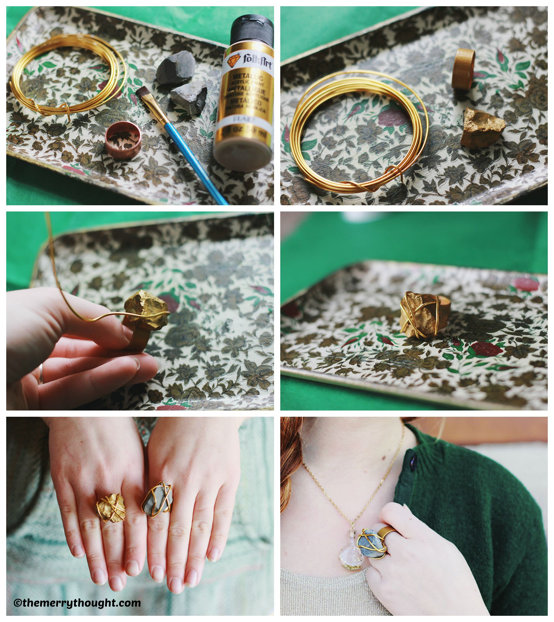 How to make a Golden Stone Ring