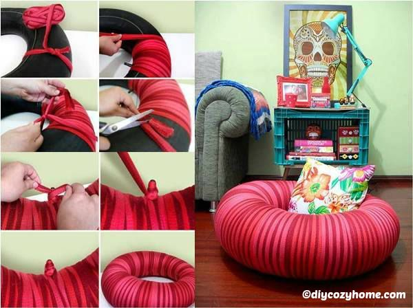 How to make a Wrapped Tire Tube Seating