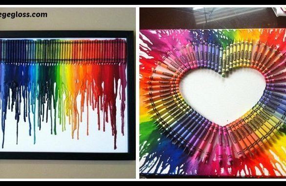 DIY Melted Crayon Canvases Tutorial