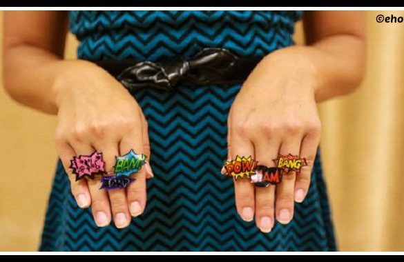 DIY Shrinky Dink Rings Tutorial