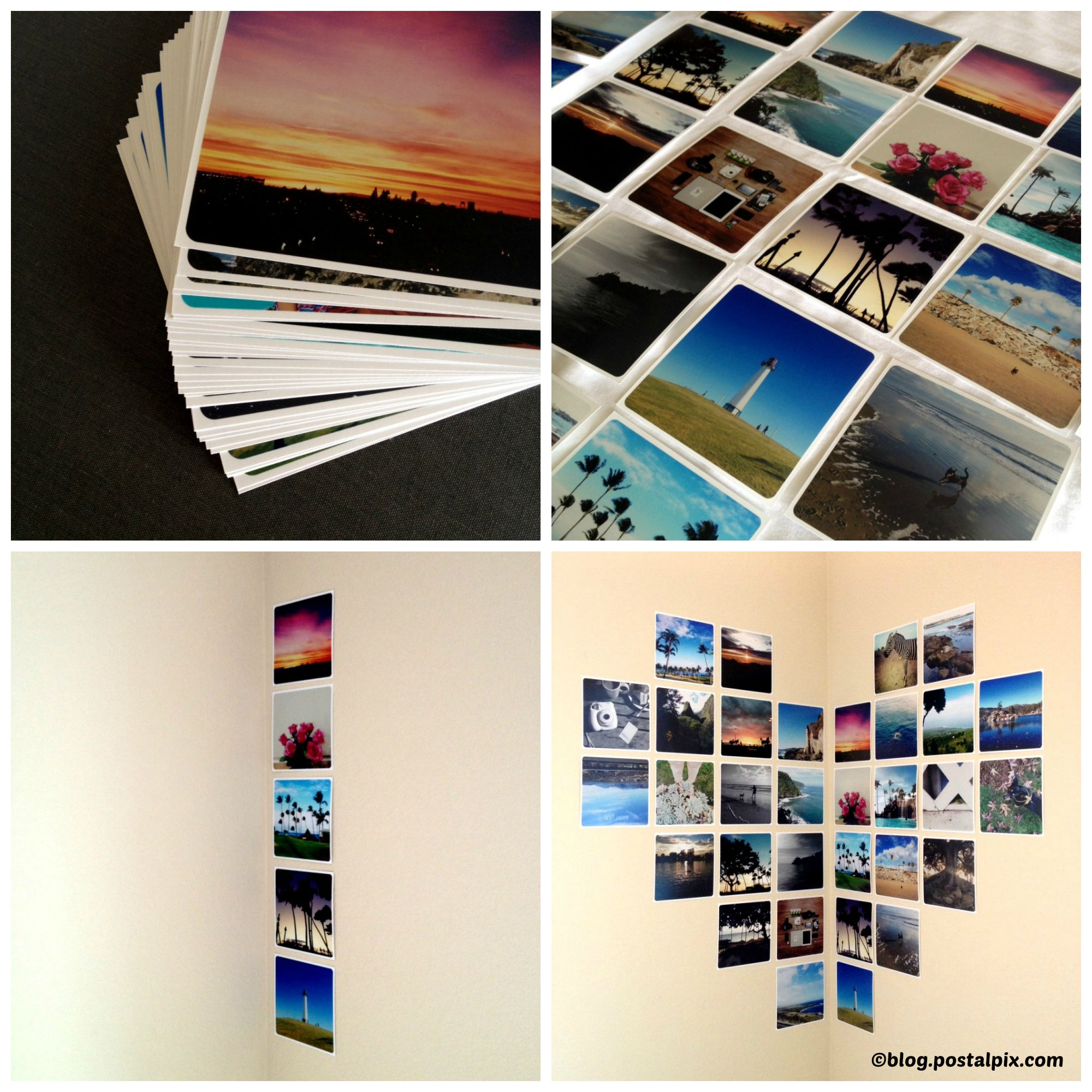 How to make Corner Heart Photo Prints