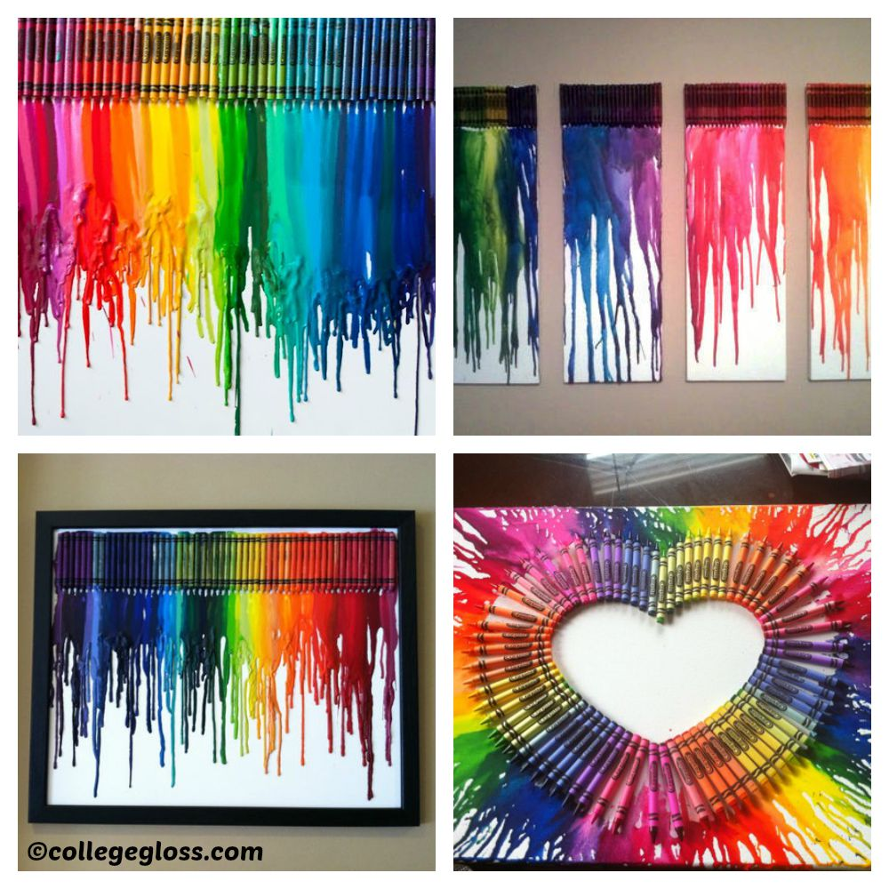 How to make Melted Crayon Canvases