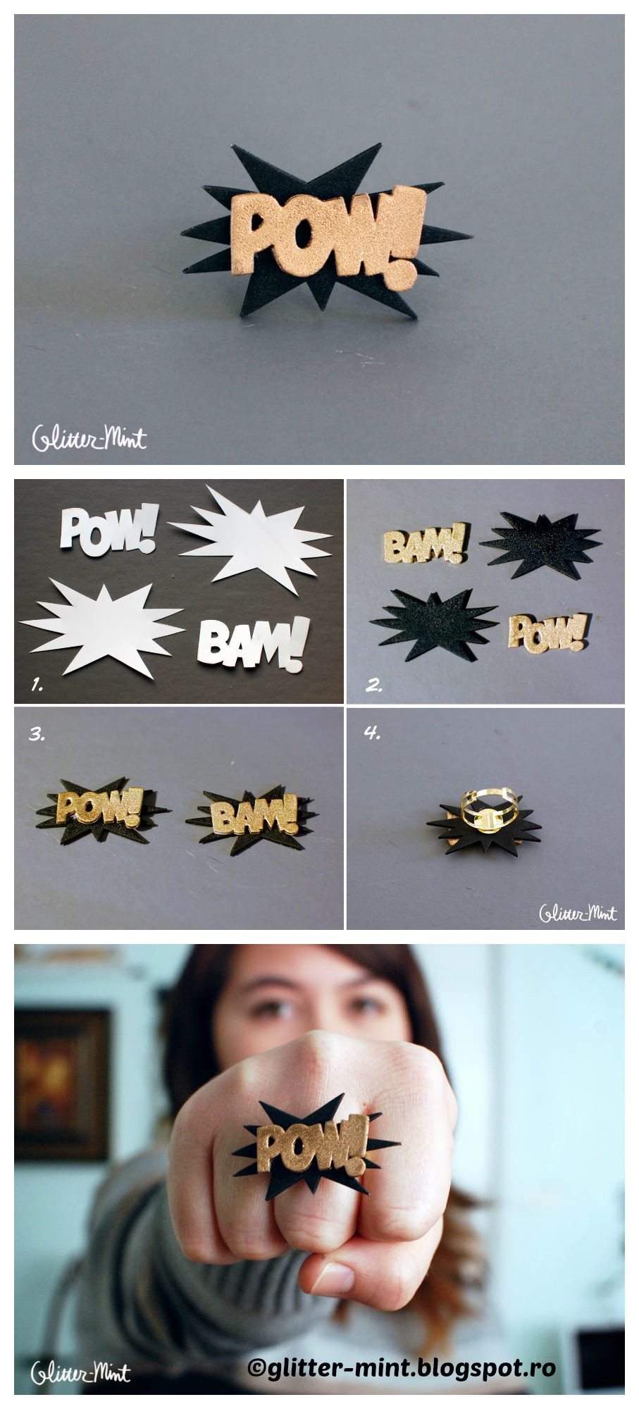 How to make a Pow Bam Plastic Ring